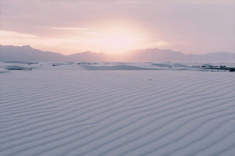 Sunset in White Sands National Park