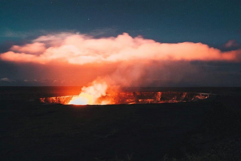 Volcano crater in Hawaii Volcanoes National Pakr