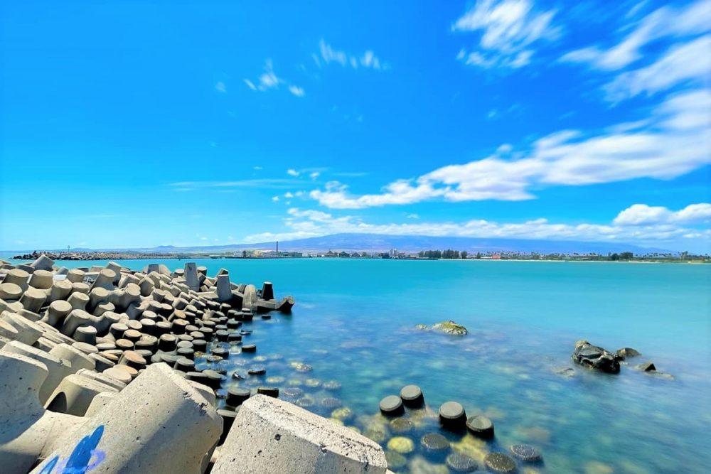 Haleakala view from Kahului Harbor
