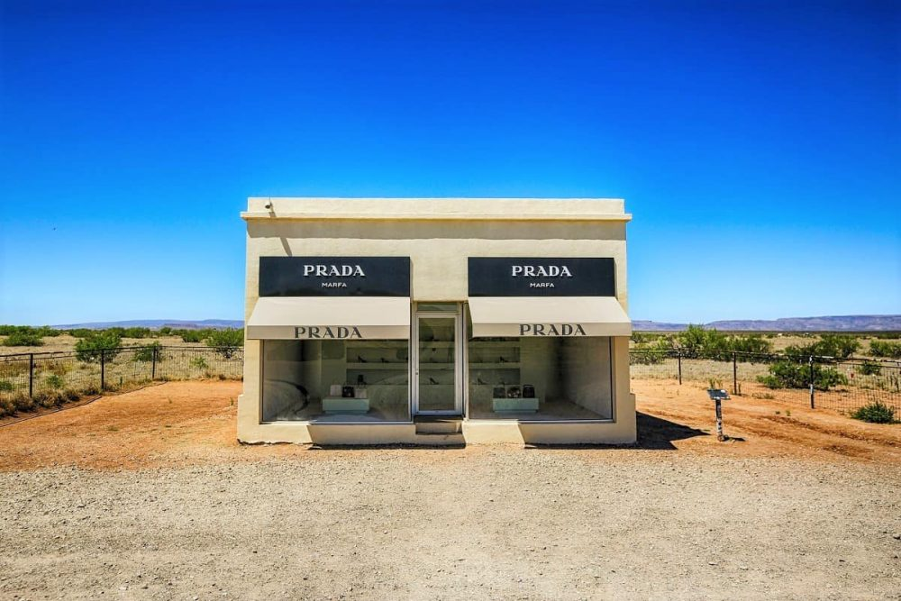 A fake Prada store in the middle of nowhere in the Big Bend area