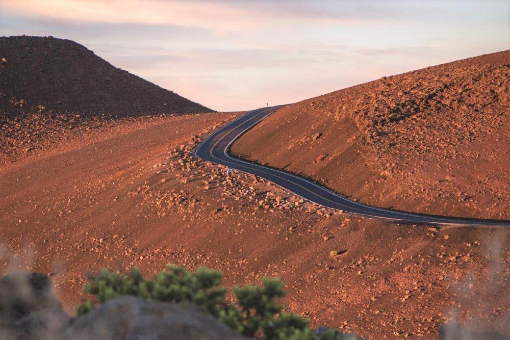 Winding road in Haleakala National Park
