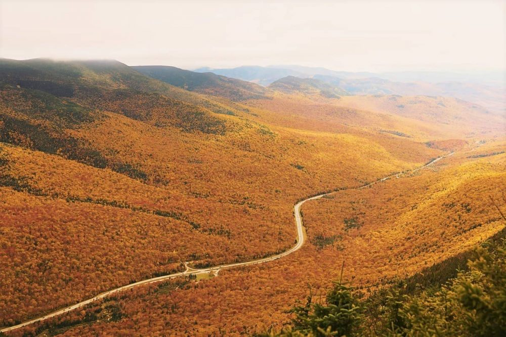 White Mountains on New England fall road trip itinerary