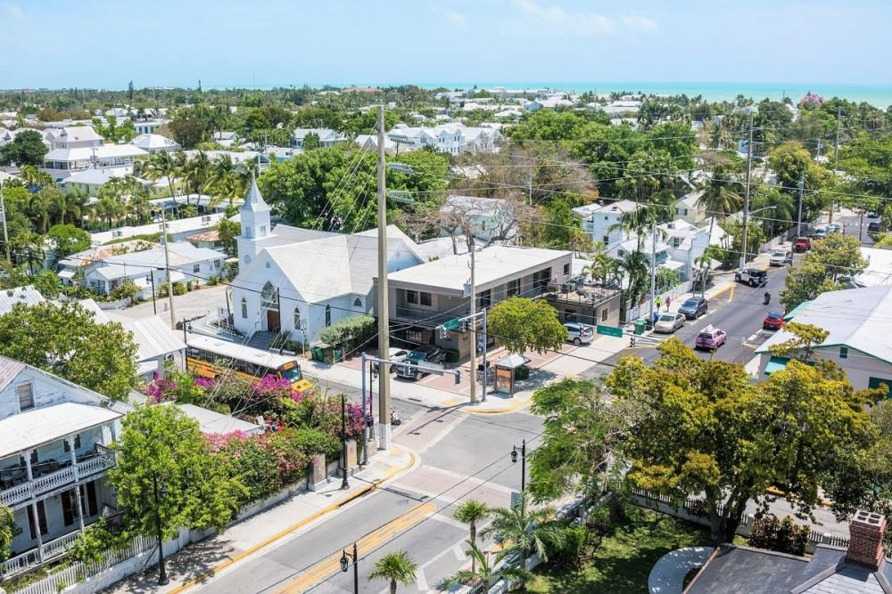 View over Old Town in Key West