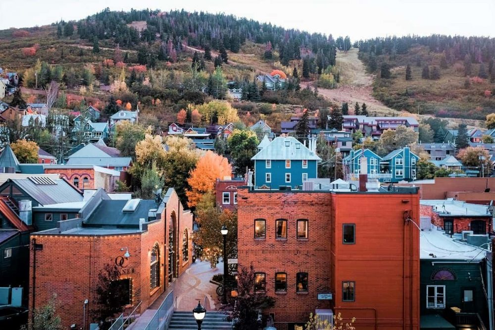 The colorful Park City in the Mountains in Utah