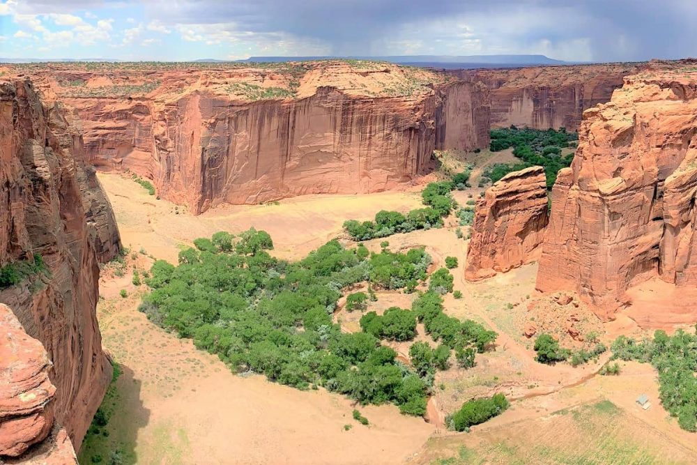 A cloudy day at Canyon de Chelly National Monument, AZ