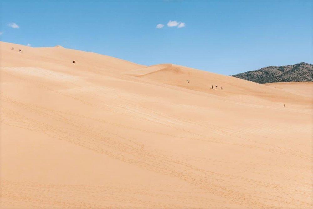 Spectacular dunes in Great Dunes National Park