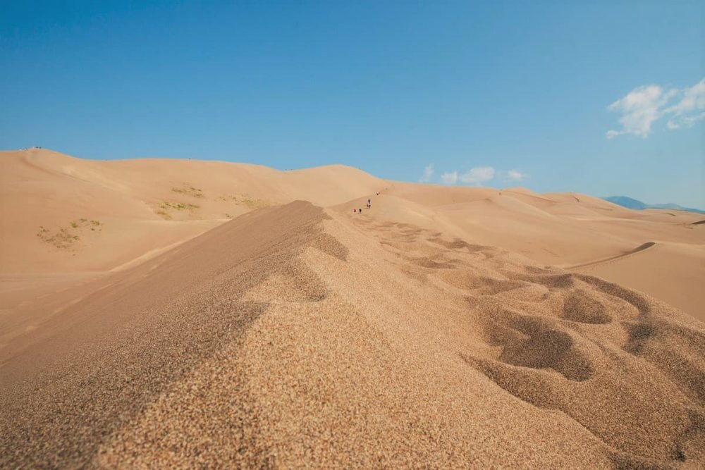 Endless dunes in Great Sand Dunes National Park